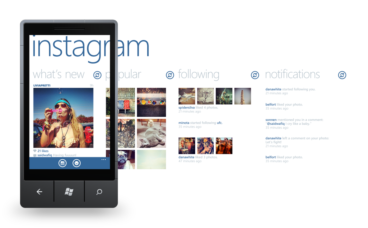 Official Instagram client for Windows Phone